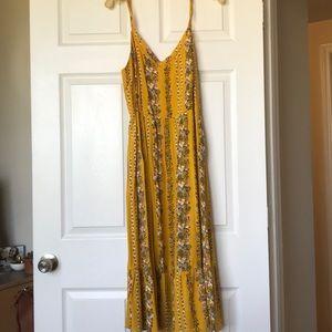 Old Navy Yellow Midi Dress